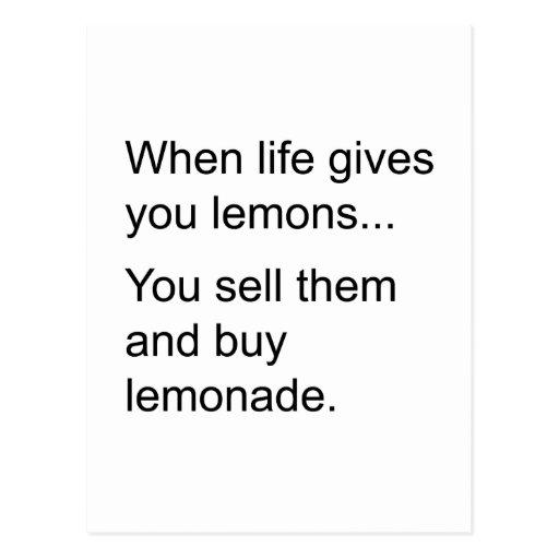 life and its lemons postcards