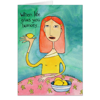 Life and Lemons Card