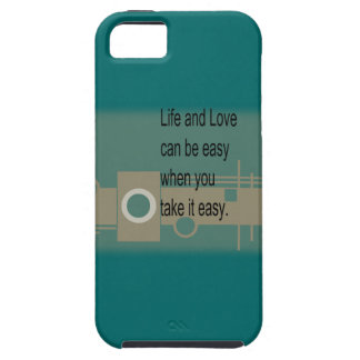 Life and Love CAN BE easy when you take it easy iPhone SE/5/5s Case