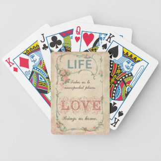 Life and Love on an Antique French Label Bicycle Playing Cards