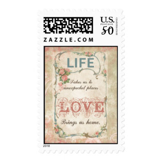 Life and Love on an Antique French Label Postage