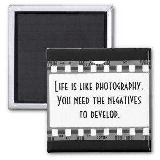 Life and Photography 2 Inch Square Magnet