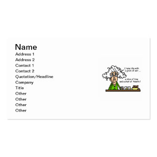 Life and Tequila Humor Double-Sided Standard Business Cards (Pack Of 100)