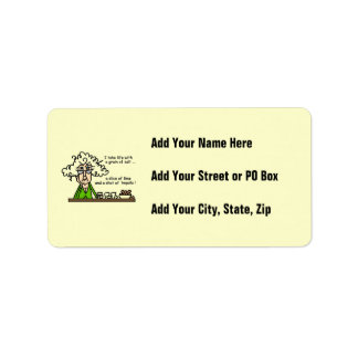 Life and Tequila Humor Personalized Address Label