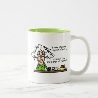 Life and Tequila Humor Two-Tone Coffee Mug