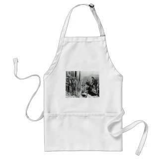 Life and Times of Daniel Boone Vintage Glass Slide Adult Apron