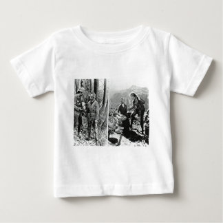 Life and Times of Daniel Boone Vintage Glass Slide Baby T-Shirt