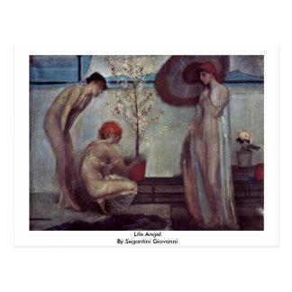 Life Angel By Segantini Giovanni Postcard