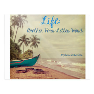 LIFE, Another Four-letter Word Postcard