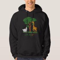 Life Artist: Funny Sheep Meme, w/ Giraffe, Acacia Hoodie