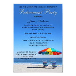 Life as a Beach Retirement Party Invitation