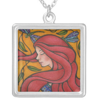 Life as a Tapestry Square Pendant Necklace