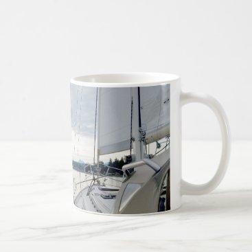 Coffee Themed Life at Six Knots Boat Coffee Mug