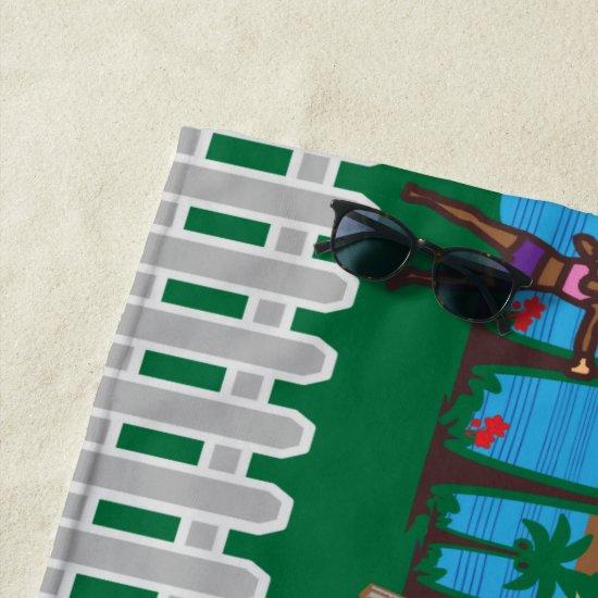 Life At The Beach Beach Towel