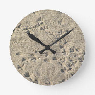 Life at the Beach Round Wall Clock
