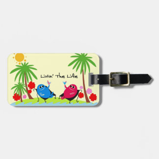 Life At The Beach Luggage Tag