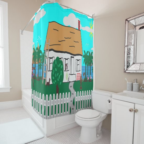 Life At The Beach Shower Curtain