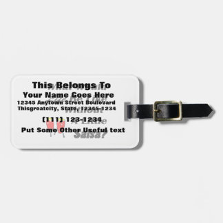 life be like without salsa bk text red congas luggage tag