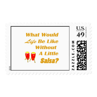 life be like without salsa orange text red congas postage