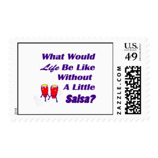 life be like without salsa purple text red congas stamp