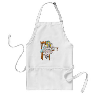 Life Before Twitter - Little Girl on Phone Adult Apron