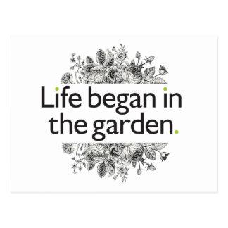 Life Began in the Garden Postcard