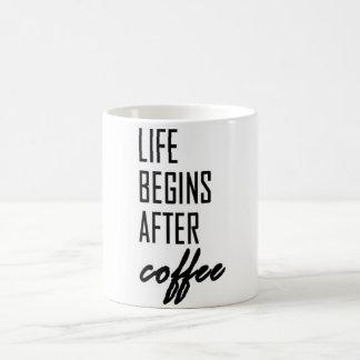 Life Begins After Coffee Coffee Mug