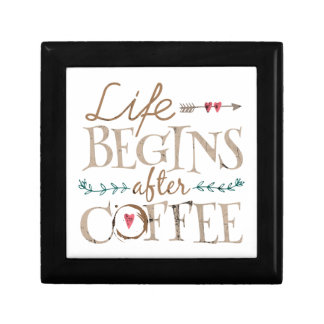 Life Begins After Coffee Gift Box