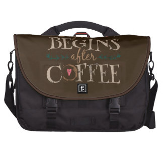 Life Begins After Coffee Commuter Bags