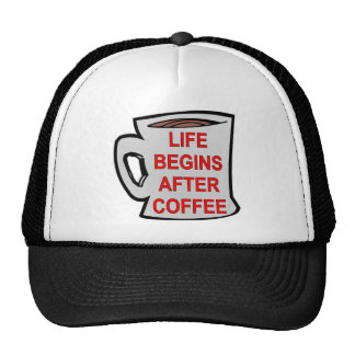 Life Begins After Coffee Trucker Hat