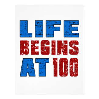 Life Begins At 100 Letterhead