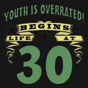 Life Begins At 30th Birthday T Shirt
