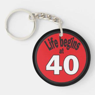 Life Begins at 40 Keychain Acrylic Keychains
