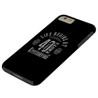 Life Begins At 40 Knots Kitesurfing Tough iPhone 6 Plus Case