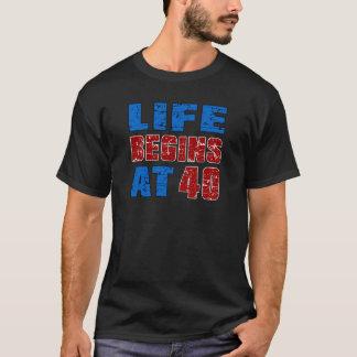 Life Begins At 40 T-Shirt