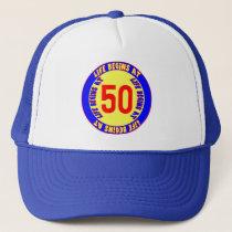 Life Begins At 50th Birthday Hat