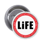 Life Begins At Conception 2 Inch Round Button