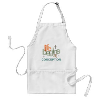 Life Begins At Conception Apron