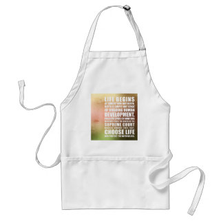 Life Begins At Conception Adult Apron
