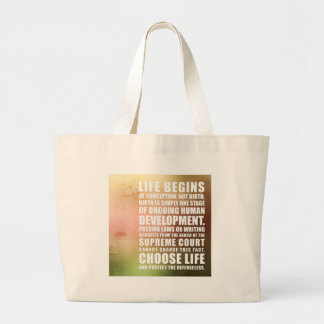 Life Begins At Conception Tote Bags