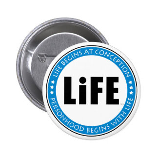 Life Begins At Conception Pinback Buttons