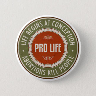 Life Begins At Conception Button