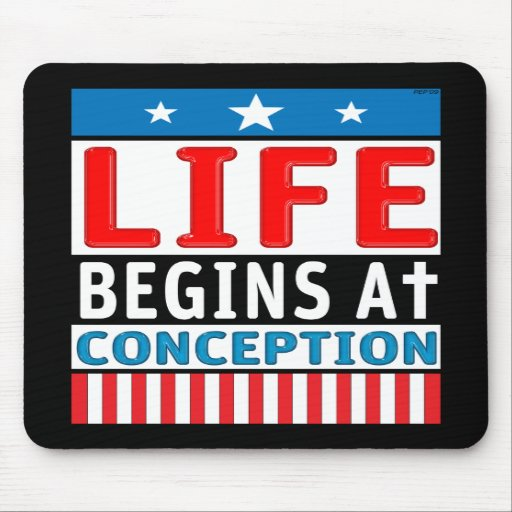 Life Begins At Conception Mouse Pad