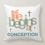 Life Begins At Conception Pillow