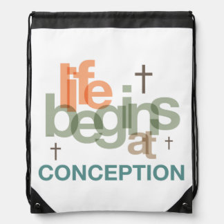 Life Begins At Conception Backpacks