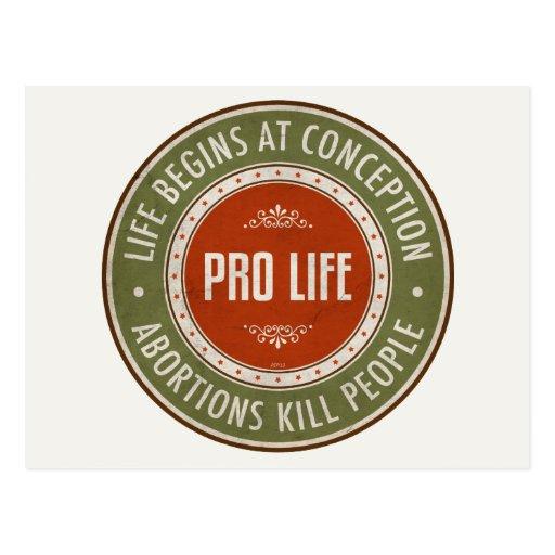 Life Begins At Conception Postcard