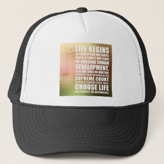 Life Begins At Conception Trucker Hat