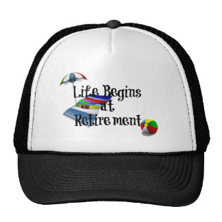 Life Begins at Retirement, Fun Trucker Hat