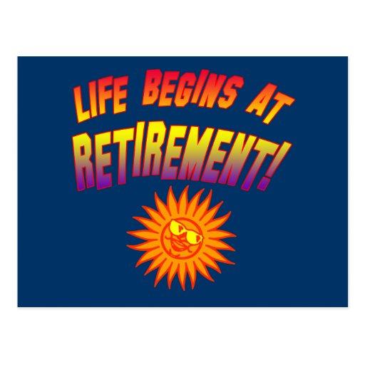 Life Begins at Retirement! Postcard
