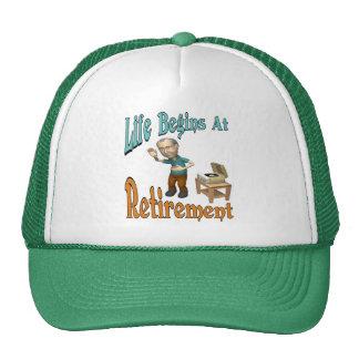 Life Begins At Retirement Trucker Hat